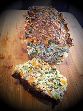 Vegetable lentil nut loaf